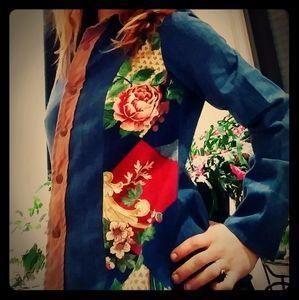 1970's patchwork denim shirt / jacket